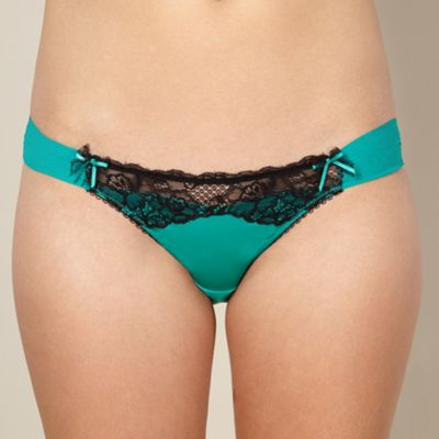 Green lace front briefs