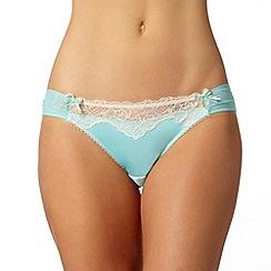 Gorgeous DD+ - Aqua floral lace thong