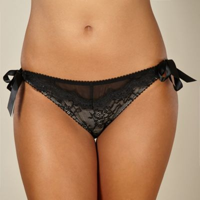 Black lace bikini briefs
