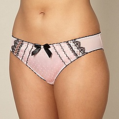 Gorgeous DD+ - Light pink lace satin brief