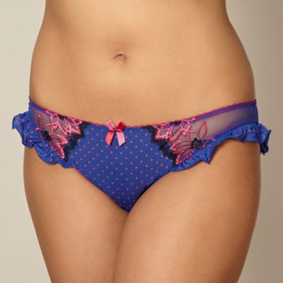 Blue spotted bikini briefs