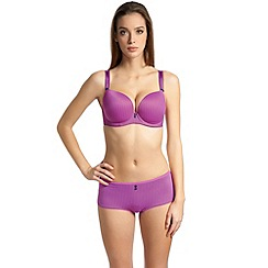 Freya - Dark pink 'Deco Hatty' moulded plunge bra