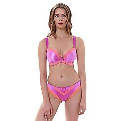 Freya - Purple 'Deco Charm' plunge bra