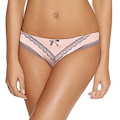 Freya - Light pink Deco lace thong