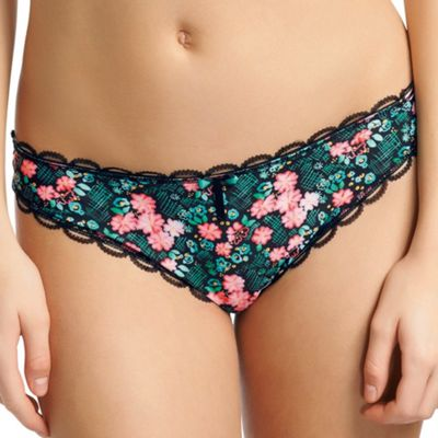 Multicoloured Flourish thong