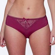 Maroon 'Cherub' opaque lace briefs