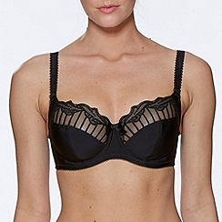 Charnos - Online exclusive black 'sienna' full cup bra