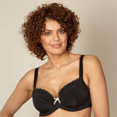 Black D-H cup t-shirt bra