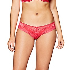 Gorgeous DD+ - Red satin lace 'Molly' bikini knickers