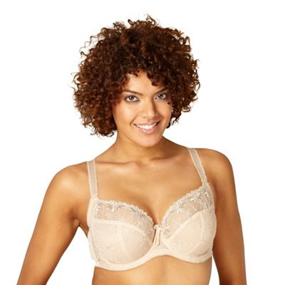 Natural DD-J lace full cup bra