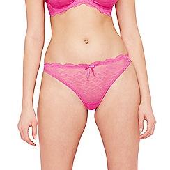 Freya - Pink lace 'Fancies' thong