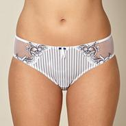 White striped floral briefs