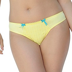 Curvy Kate - Pale yellow 'Dreamcatcher' thong