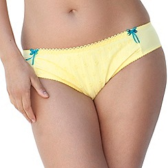 Curvy Kate - Pale yellow 'Dreamcatcher' briefs