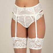 Ivory lace bridal suspender