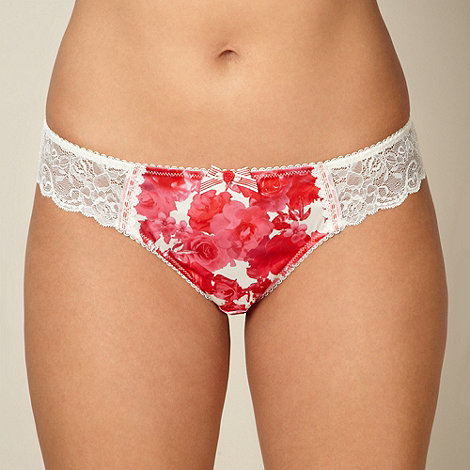 Gorgeous DD+ - Pink floral lace brazilian briefs