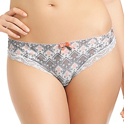 Freya - Grey 'Thimble Cottage' thong