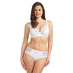 Freya - Online exclusive white 'enchanted' underwired balcony bra