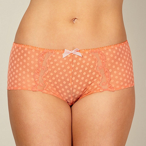 Gorgeous DD+ - Orange spot mesh shorts