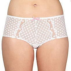 Gorgeous DD+ - White spotted mesh shorts