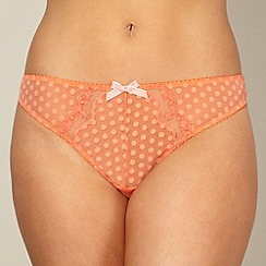 Gorgeous DD+ - Orange spot mesh thong