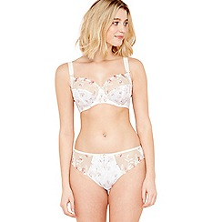 Fantasie - Ivory floral print embroidered 'Alicia' underwired non-padded balcony bra