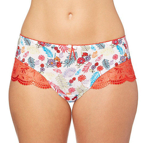 Gorgeous DD+ - Red floral microfibre shorts
