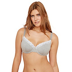 Gorgeous DD+ - Pack of two grey D-G t-shirt bras