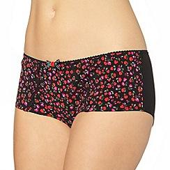 Gorgeous DD+ - Black floral printed shorts
