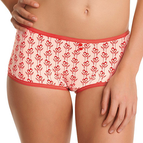 Freya - Red +Deco Flamingo+ shorts