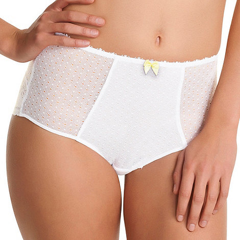 Freya - White Gem High Waist Brief