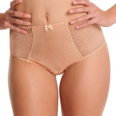 Nude Gem High Waist Brief