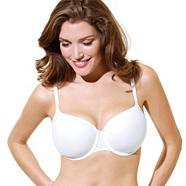 White 'Porcelain' t-shirt bra