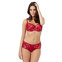 Gorgeous DD+ - Red all over lace DD-J full cup bra