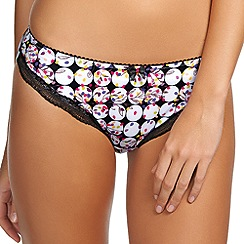 Fantasie - Black 'Mollie' confetti print brief