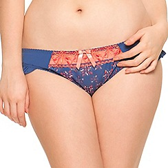 Curvy Kate - Navy 'Firecracker' floral print briefs