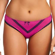 Dark pink 'Deco Charm' lace brief