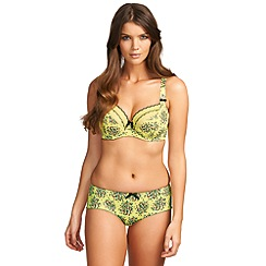 Freya - Yellow 'Ignite' plunge balcony bra