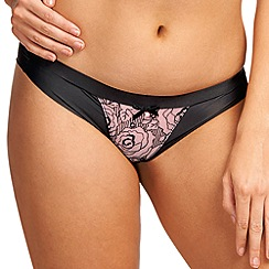 Freya - Black 'Deco Darling' rose brief