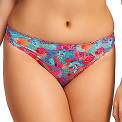 Freya - Pink 'Doodle' patterned thong