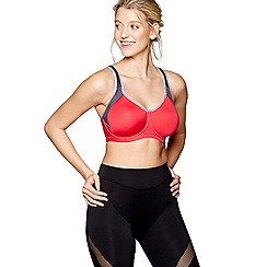 Freya - Bright red underwired moulded sports bra