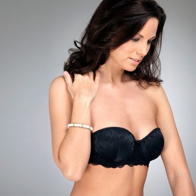 Black Madeline jacquard multiway bra