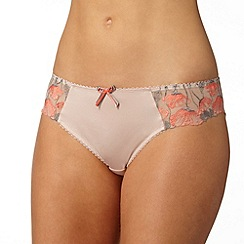 Gorgeous DD+ - Natural floral lace bikini briefs