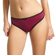 Dark red 'Deco Spotlight' thong