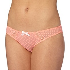 Gorgeous DD+ - Light orange spotted mesh bikini briefs