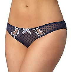 Gorgeous DD+ - Navy spotted mesh bikini briefs