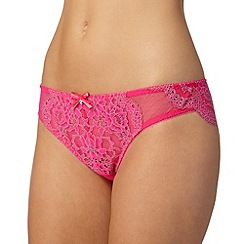 Gorgeous DD+ - Dark pink brazilian lace briefs