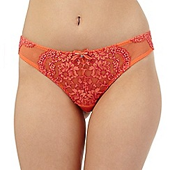 Gorgeous DD+ - Orange lace Brazilian briefs