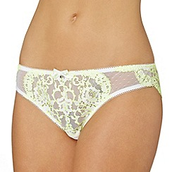 Gorgeous DD+ - Lime lace brazilian briefs
