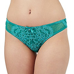 Gorgeous DD+ - Green lace Brazilian briefs